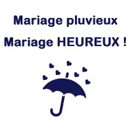 T-shirt Mariage Humour Mariage pluvieux, mariage heureux