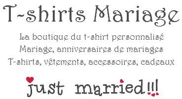 la boutique mariage t shirt mariage personnalis cadeau anniversaire de mariage. Black Bedroom Furniture Sets. Home Design Ideas